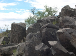 prehistoric petroglyphs, Three Rivers BLM Site, New Mexico